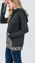 Load image into Gallery viewer, Side Zip Hoodie Leopard