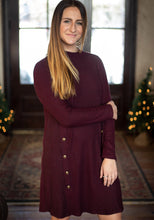 Load image into Gallery viewer, Maroon Sweater Dress