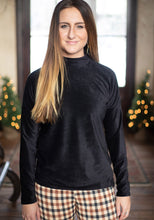 Load image into Gallery viewer, Black Corduroy Turtle Neck