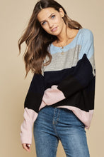 Load image into Gallery viewer, Blue & Pink Sweater