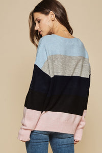 Blue & Pink Sweater