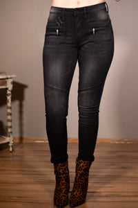 Black Moto Denim