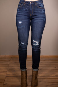 Too Fine Distressed Denim