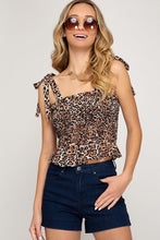 Load image into Gallery viewer, Cheetah Tube Top with Ties