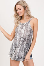 Load image into Gallery viewer, Snake Print Tank Top