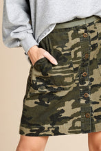 Load image into Gallery viewer, Camo Cinch Waist Skirt (2 Colors)