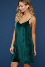 Load image into Gallery viewer, Green Velvet Dress
