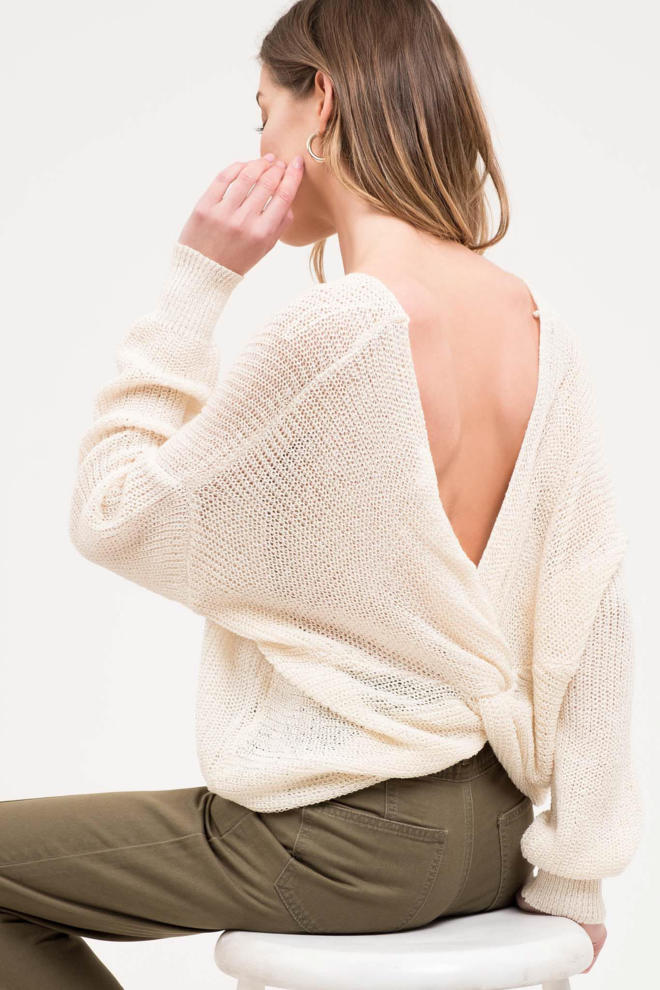 Twist-Back Sweater