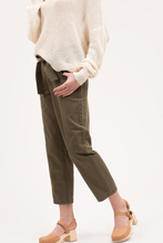 Load image into Gallery viewer, Olive Waist Tie Pants