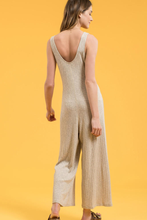 Load image into Gallery viewer, Ribbed Tie-Front Jumpsuit