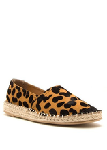 Load image into Gallery viewer, Leopard Woven Slip-Ons