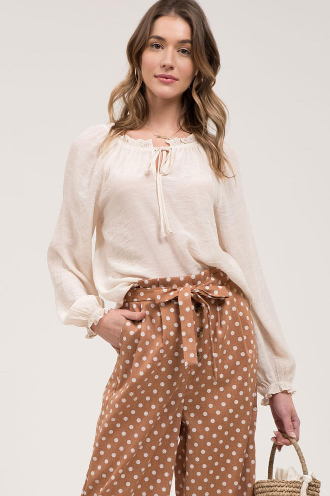Ivory Peasant Blouse