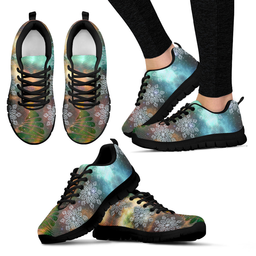 Black Christmas Universe Women's Sneakers