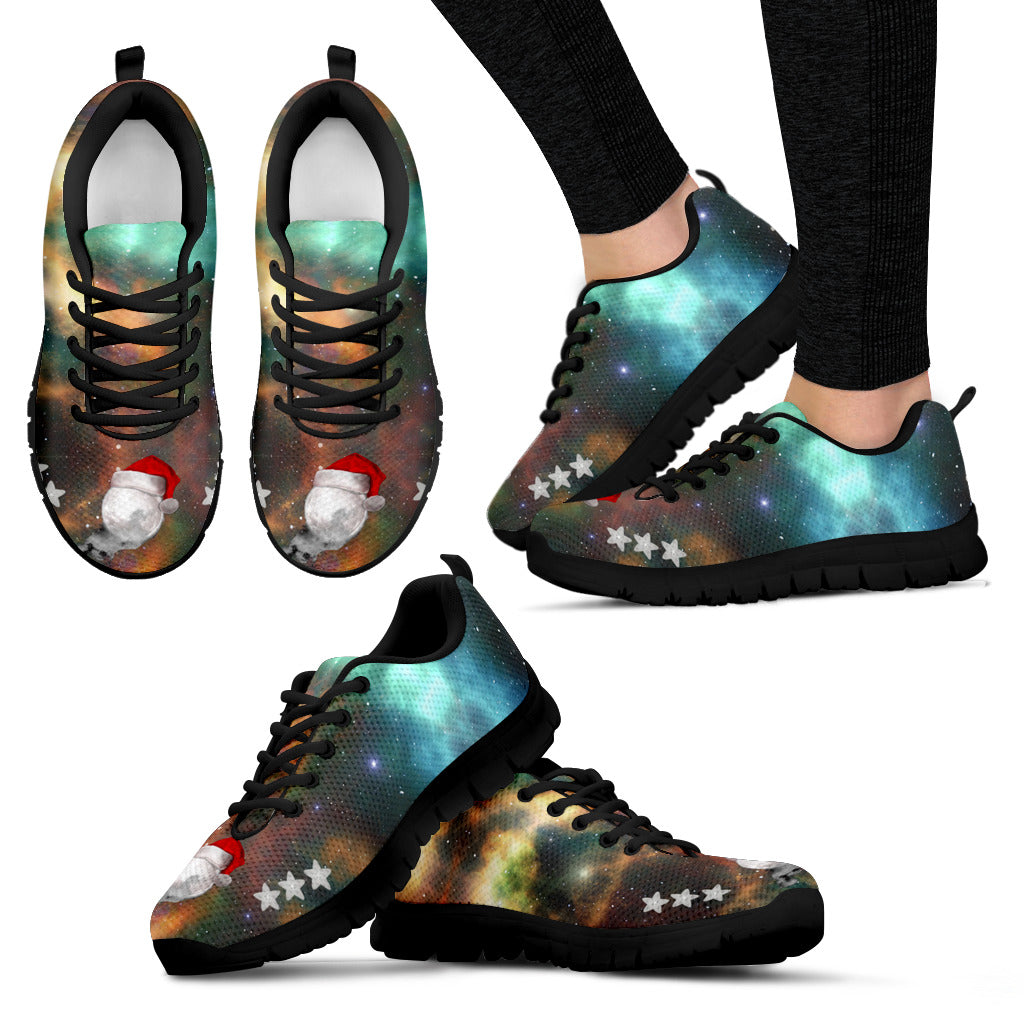 Black Santa Moon Women's Sneakers