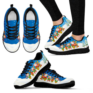 Santa and Friends Women's Sneakers - Black