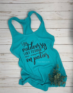 I Am Outdoorsy Tank Top