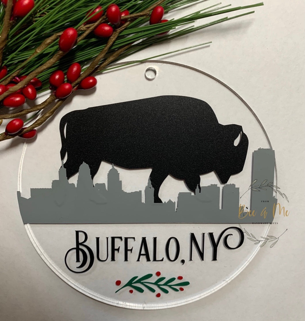 Buffalo NY Christmas Ornament