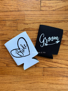 Bride and Groom Koozies