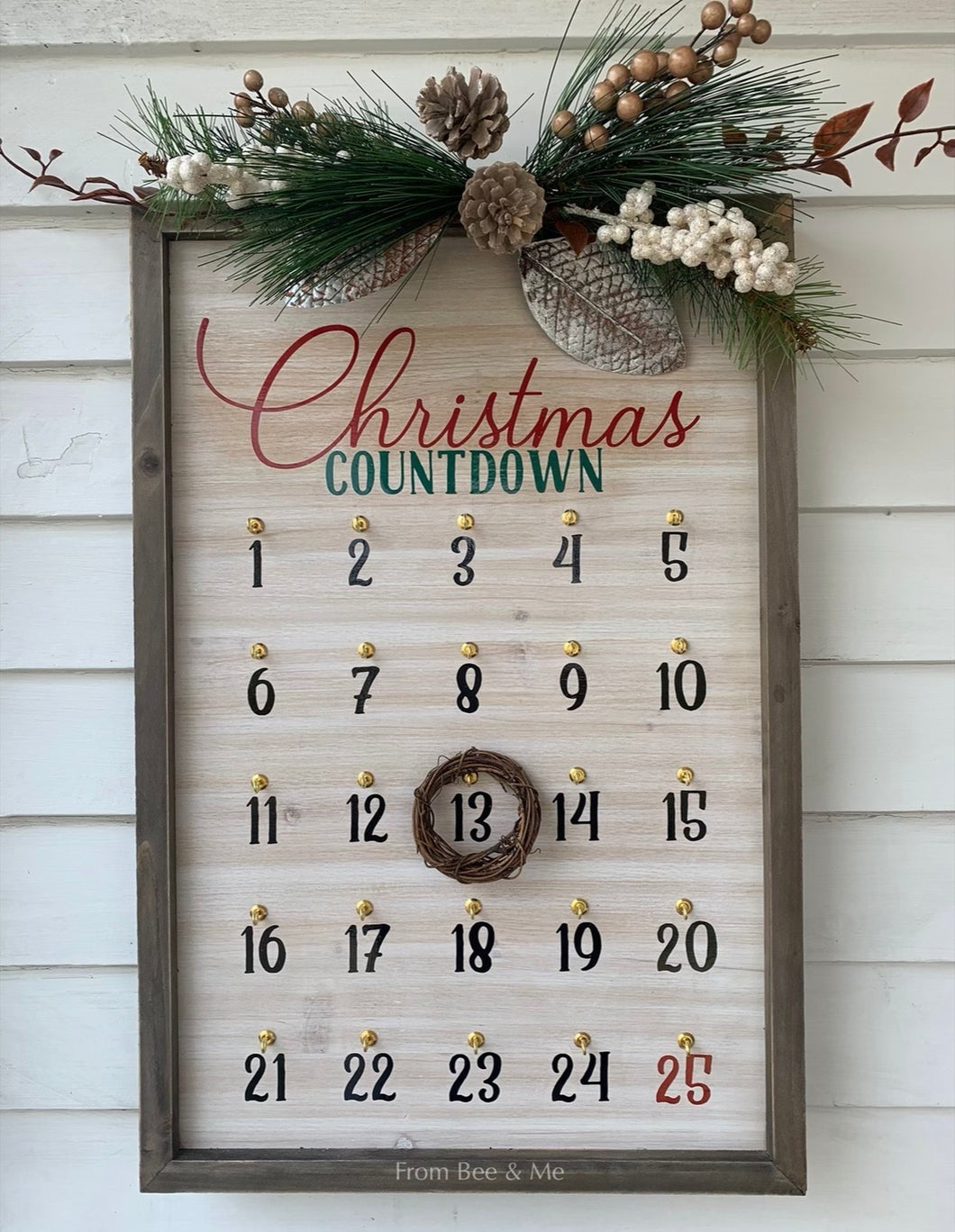 Christmas Countdown Wall Decor