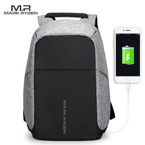 USB charging Men 15inch Laptop Backpack