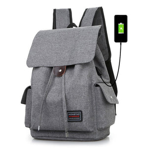 Men's Backpacks Drawstring Laptop Rucksack