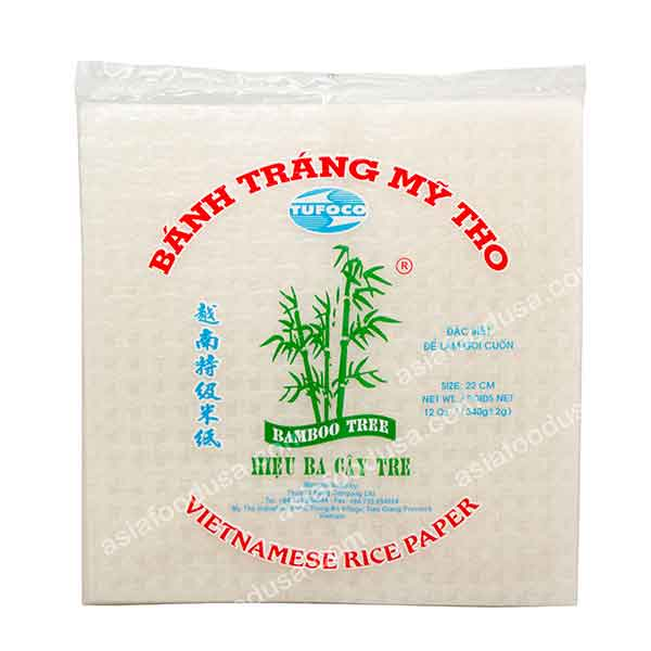 Bamboo Tree Square Rice Paper