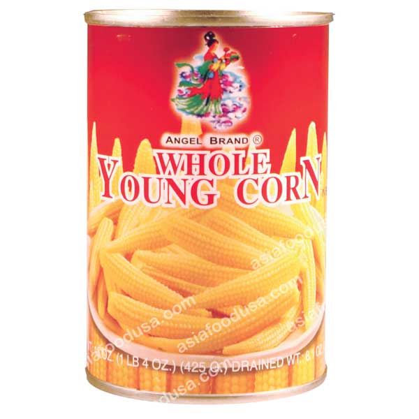 Angel Whole Baby Corn in Brine