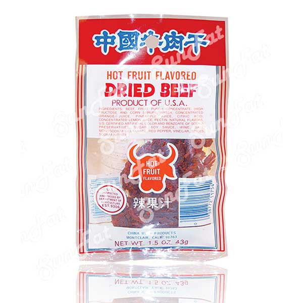 Beef Jerky Hot Fruit Flavored