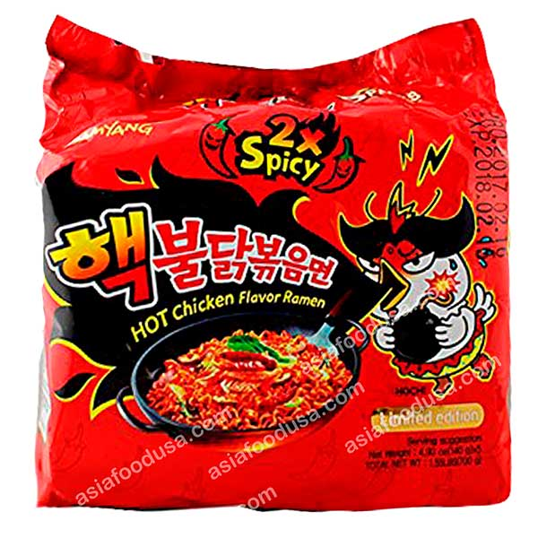 Samyang (2x Spicy) Hot Chicken Ramen (Family Pack)
