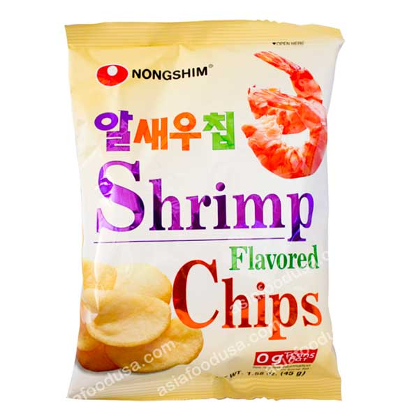 Nongshim New Shrimp Flavored Chip