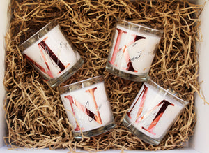 White Personalised Candles