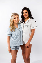Load image into Gallery viewer, White Personalised Cotton Pyjama Set