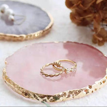 Load image into Gallery viewer, Set of 4 Gold Resin Ring Dish /Coaster