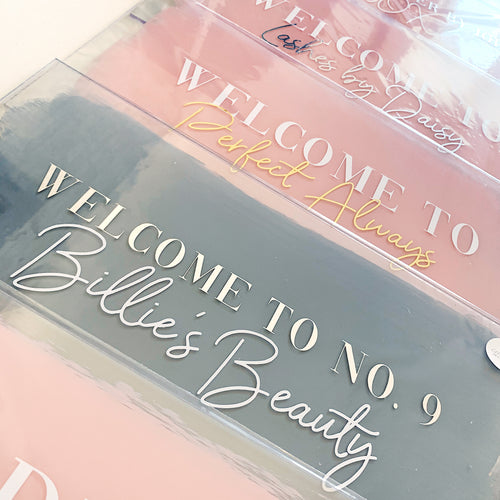 WELCOME TO Acrylic Signage