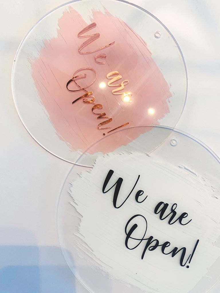 Open/Close Acrylic Sign