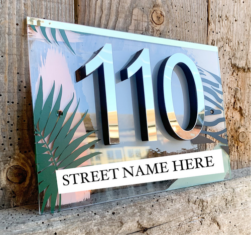 BESPOKE House Number Acrylic Sign