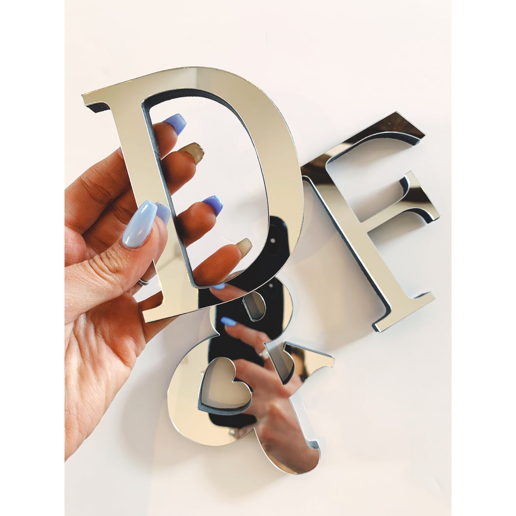 Personalised Mirrored Initials
