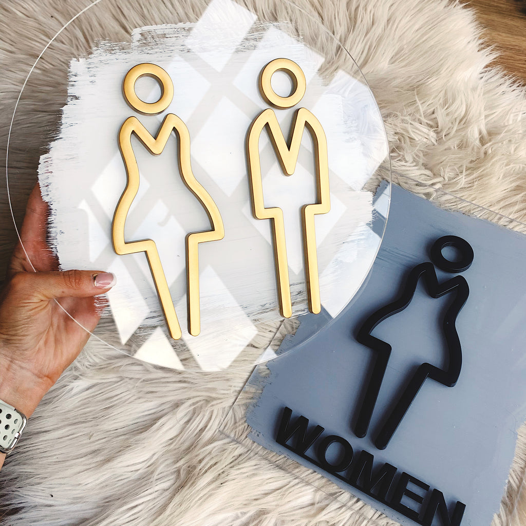 Bathroom /Toilet Acrylic Sign