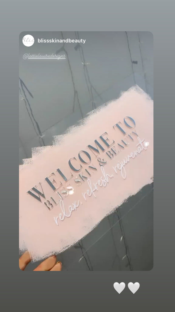 WELCOME TO Acrylic Signage 400x200mm