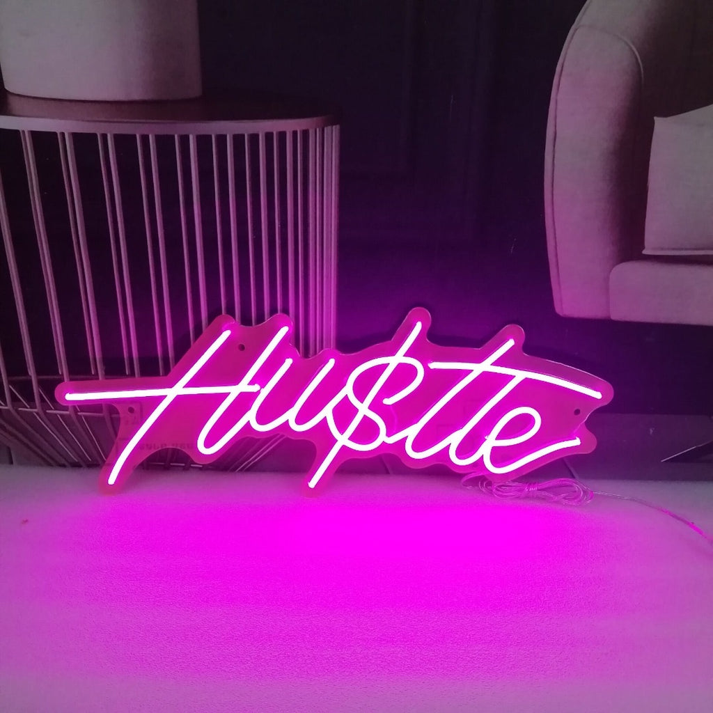 Neon Sign 'Hustle'
