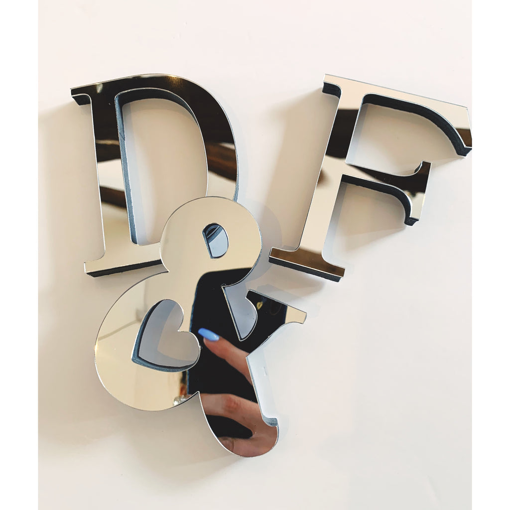 Personalised Mirrored Initials/ Numbers