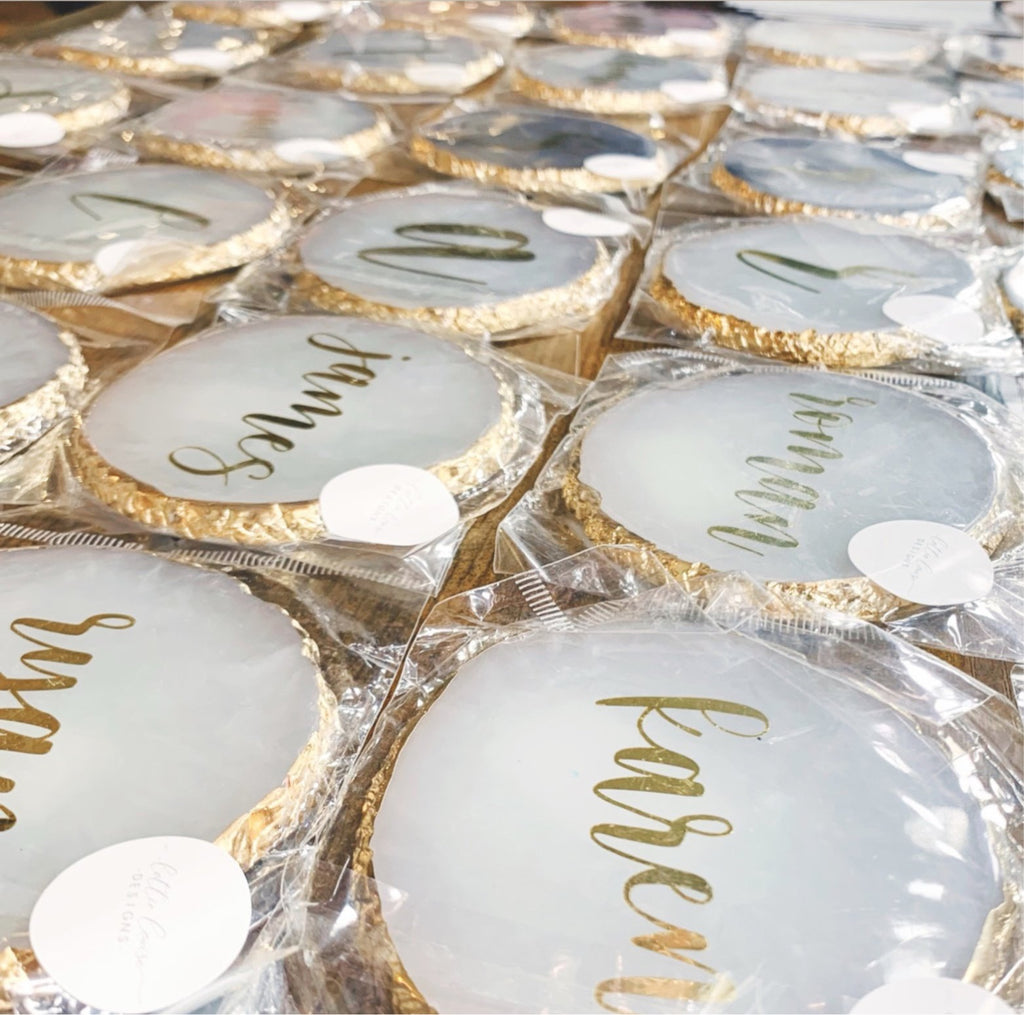 Gold Resin Name Place Setting (𝗠𝗶𝗻𝗶𝗺𝘂𝗺 𝗼𝗿𝗱𝗲𝗿 𝗼𝗳 𝟮𝟱!)
