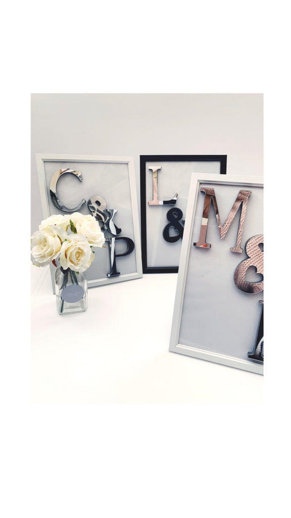 Personalised Mirrored Initial Frame