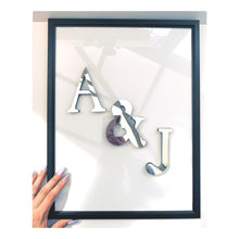 Load image into Gallery viewer, Personalised Mirrored Initial Frame