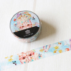 Tokotoko Circus - Dreaming of Birds Cat Japanese Washi Tape