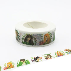 Pretty cartoon girls Washi Tape!