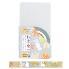 Bunny and Autumn Leaves Washi Tape
