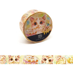 Tokotoko Circus - Food Dreams Cat Japanese Washi Tape