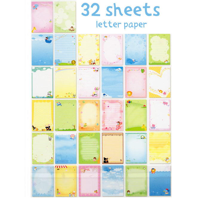 Cute Letter Paper - 32 sheets!