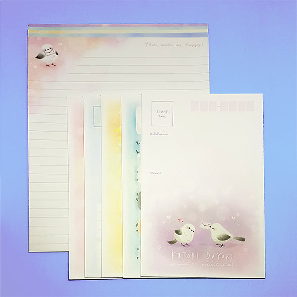 Kotori Dayori - Cute Bird Letter Set - Writing Paper & Envelopes